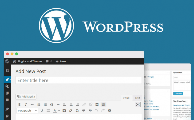 Wordpress página principal